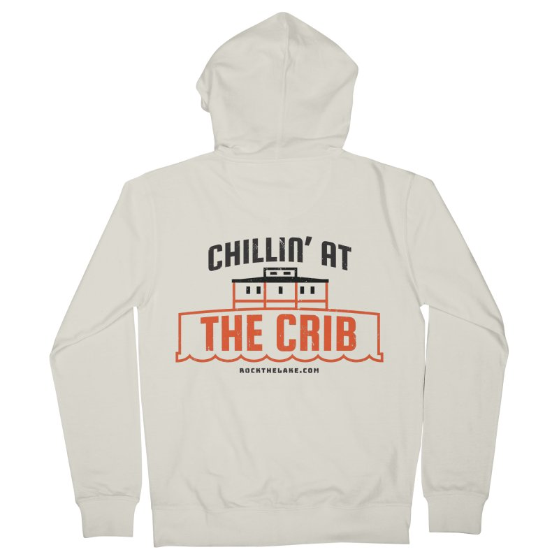 Chillin' at the Crib Men's French Terry Zip-Up Hoody by Rock the Lake's Shop