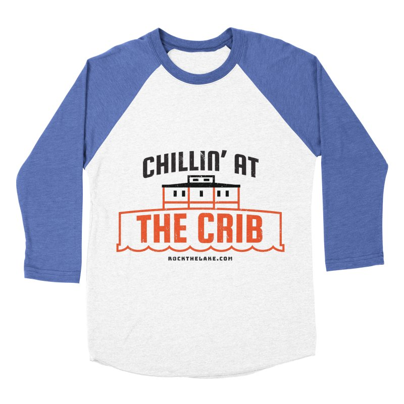 Chillin' at the Crib Men's Baseball Triblend Longsleeve T-Shirt by Rock the Lake's Shop