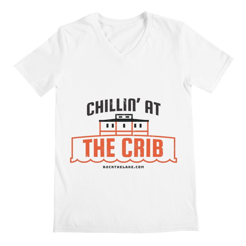 Chillin' at the Crib Men's Regular V-Neck by Rock the Lake's Shop