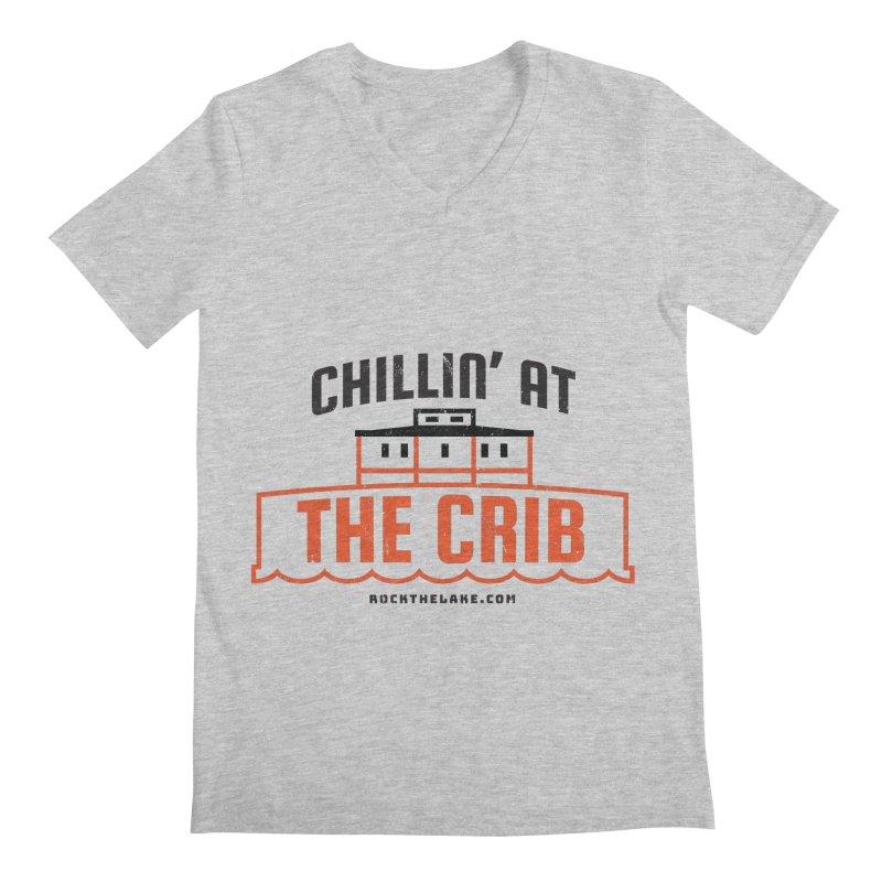 Chillin' at the Crib Men's Regular V-Neck by Rock the Lake's Shop