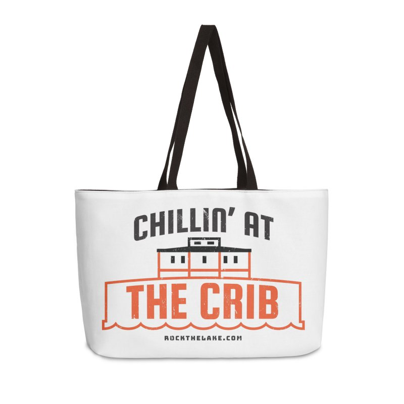 Chillin' at the Crib Accessories Weekender Bag Bag by Rock the Lake's Shop