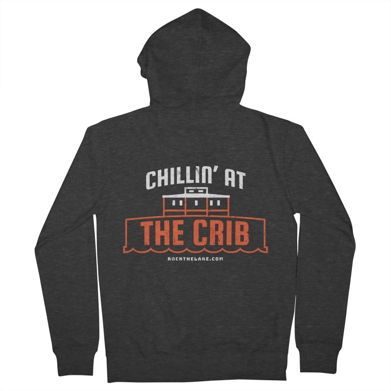 Chillin' at the Crib (alternate) Men's French Terry Zip-Up Hoody by Rock the Lake's Shop