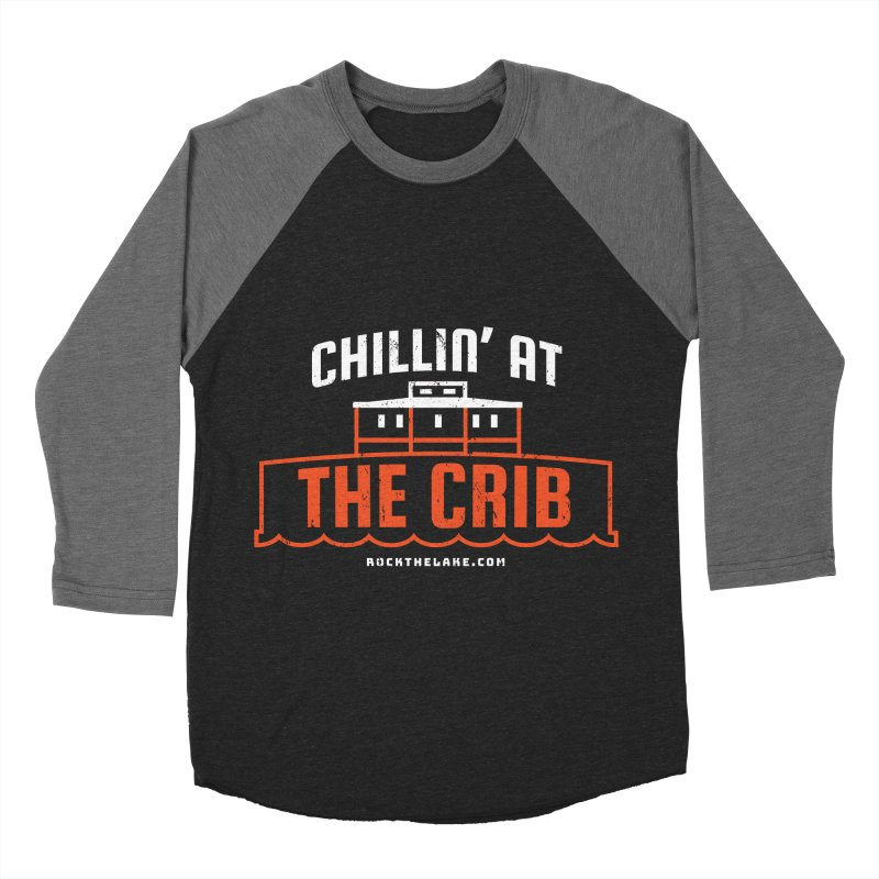 Chillin' at the Crib (alternate) Men's Baseball Triblend Longsleeve T-Shirt by Rock the Lake's Shop