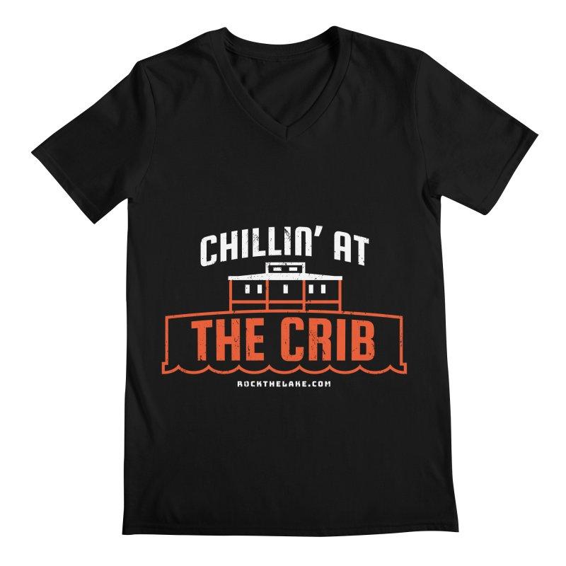 Chillin' at the Crib (alternate) Men's Regular V-Neck by Rock the Lake's Shop