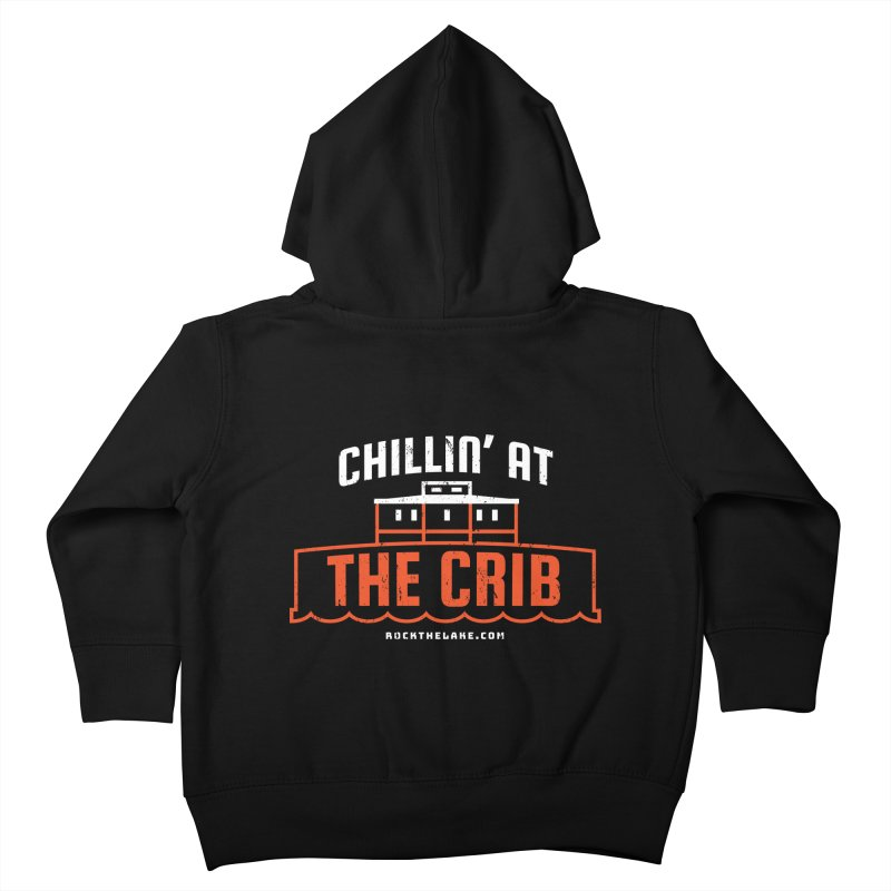 Chillin' at the Crib (alternate) Kids Toddler Zip-Up Hoody by Rock the Lake's Shop