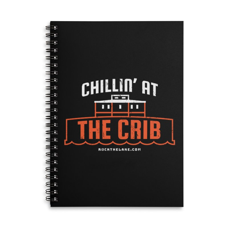 Chillin' at the Crib (alternate) Accessories Lined Spiral Notebook by Rock the Lake's Shop