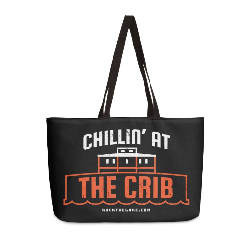 Chillin' at the Crib (alternate) Accessories Weekender Bag Bag by Rock the Lake's Shop