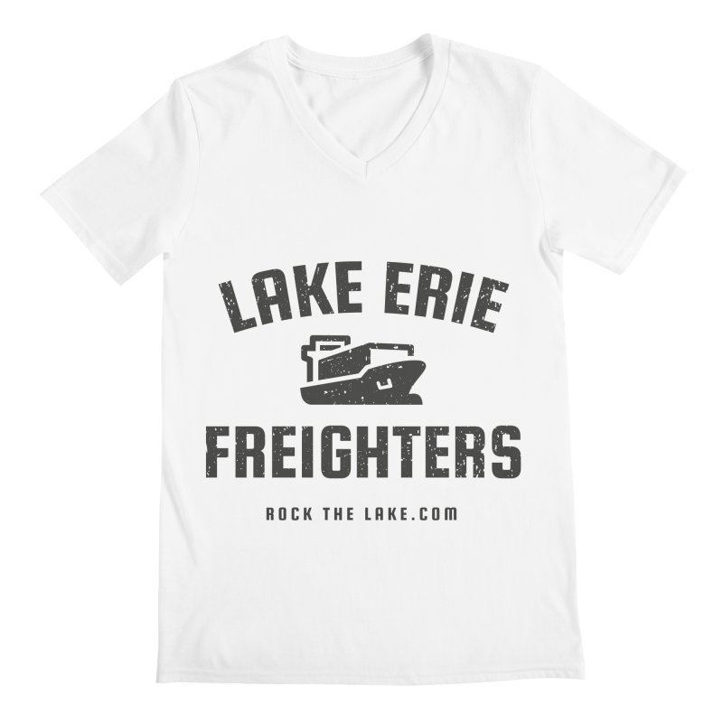 Lake Erie Freighters Men's Regular V-Neck by Rock the Lake's Shop