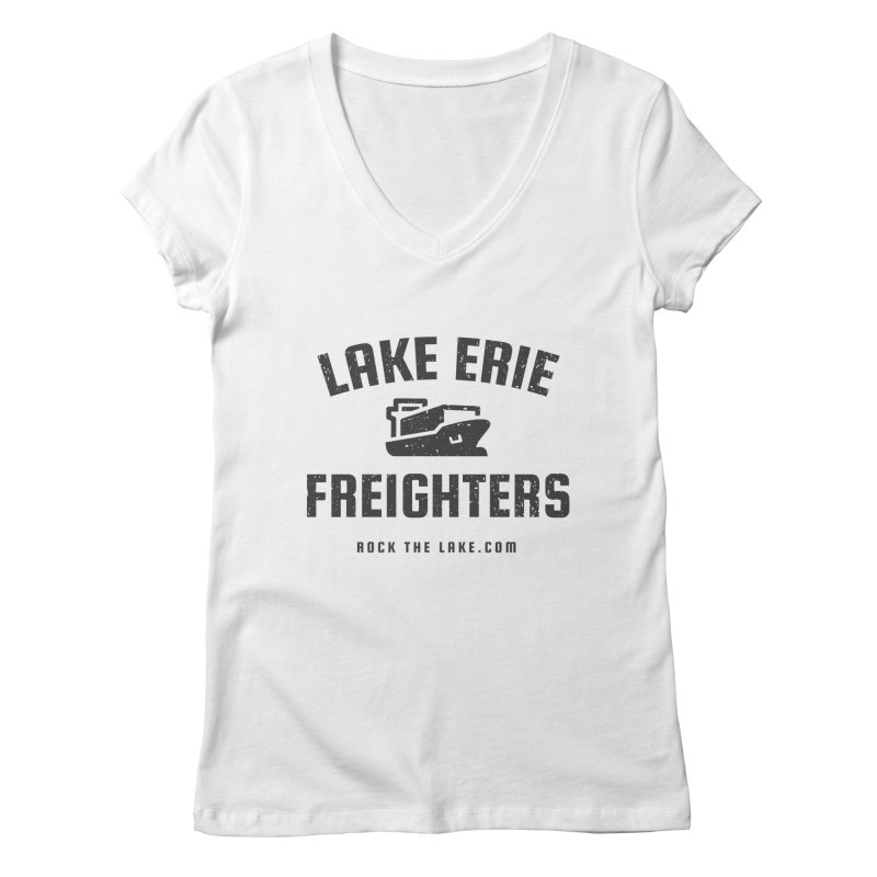 Lake Erie Freighters Women's Regular V-Neck by Rock the Lake's Shop