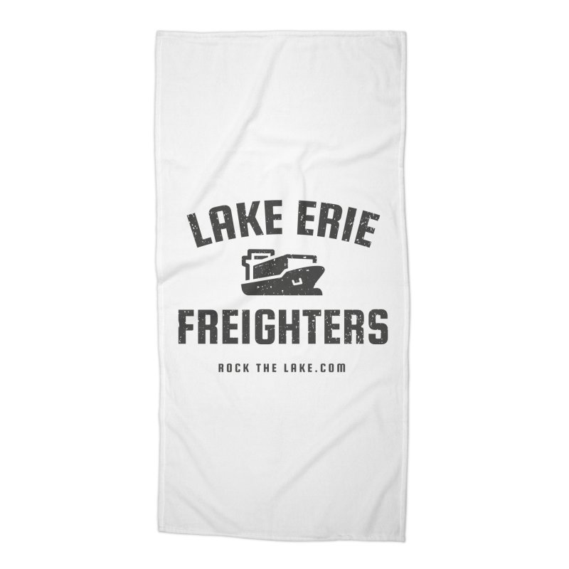 Lake Erie Freighters Accessories Beach Towel by Rock the Lake's Shop