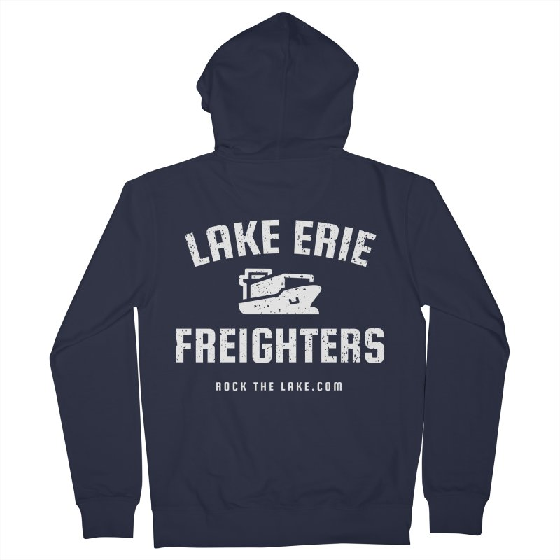 Lake Erie Freighters (alternate) Men's French Terry Zip-Up Hoody by Rock the Lake's Shop