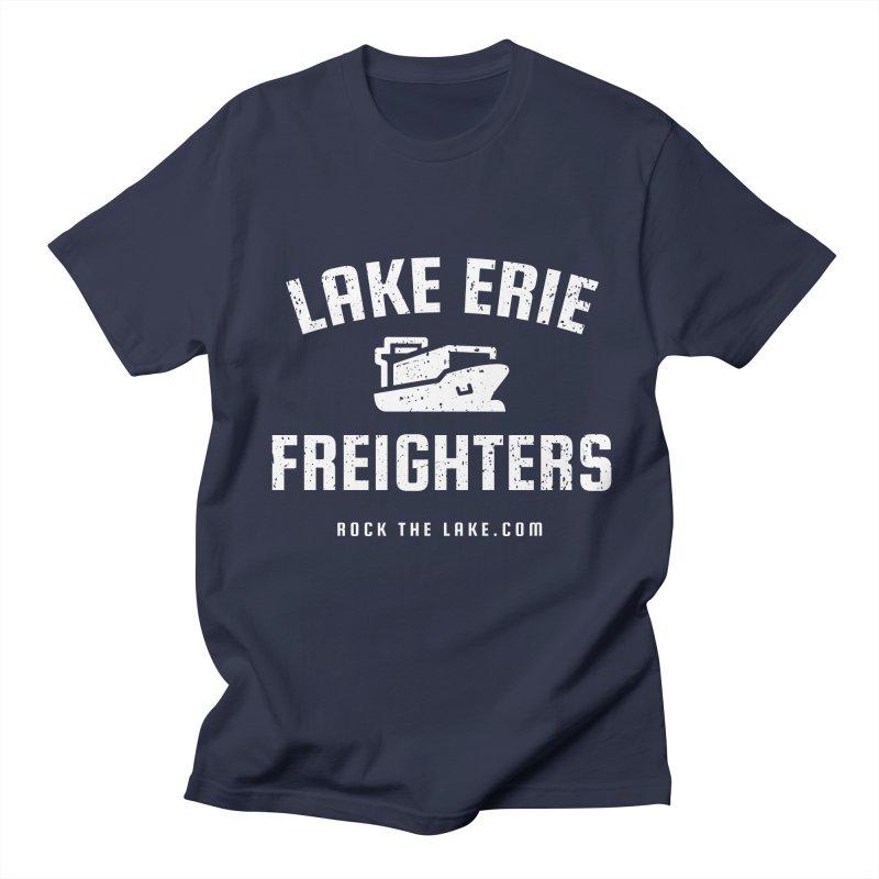 Lake Erie Freighters (alternate) Men's Regular T-Shirt by Rock the Lake's Shop