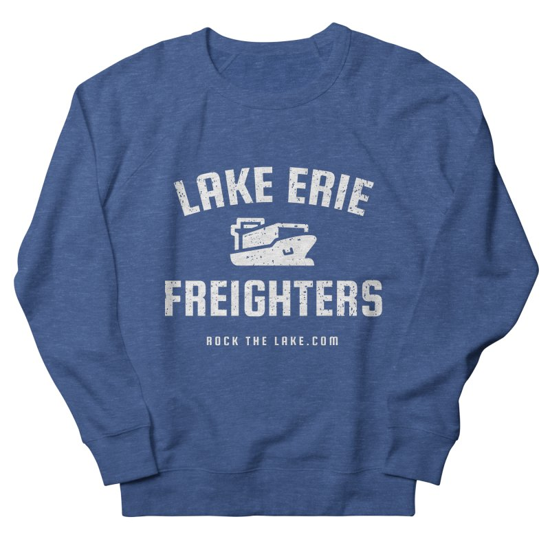Lake Erie Freighters (alternate) Men's French Terry Sweatshirt by Rock the Lake's Shop