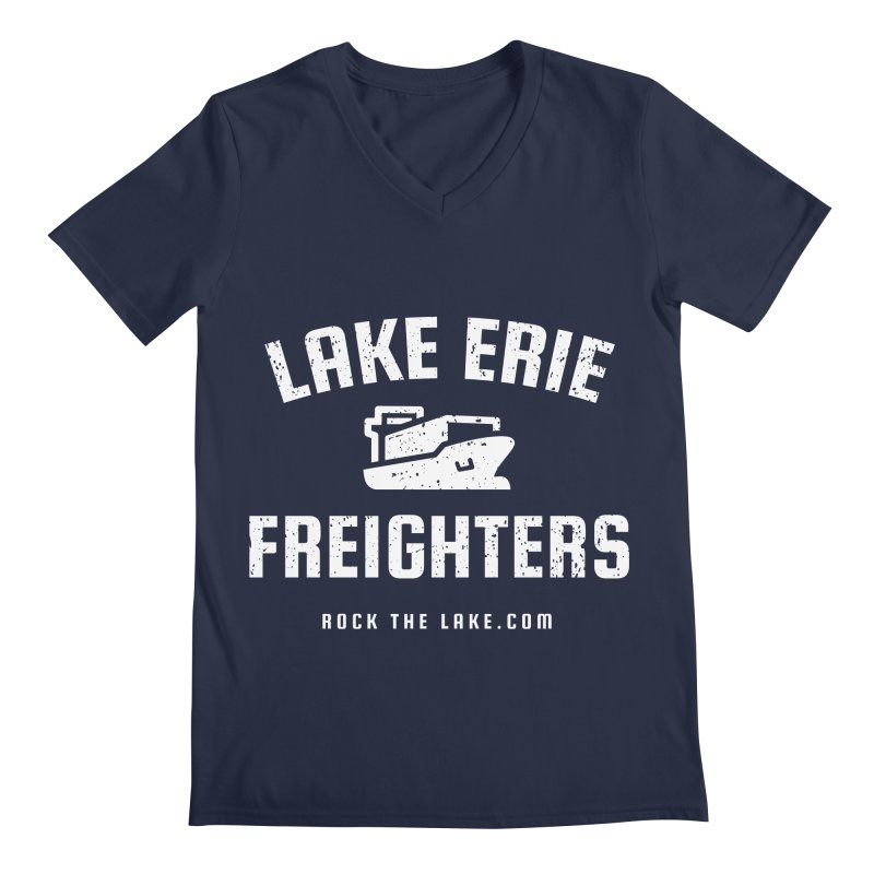 Lake Erie Freighters (alternate) Men's V-Neck by Rock the Lake's Shop