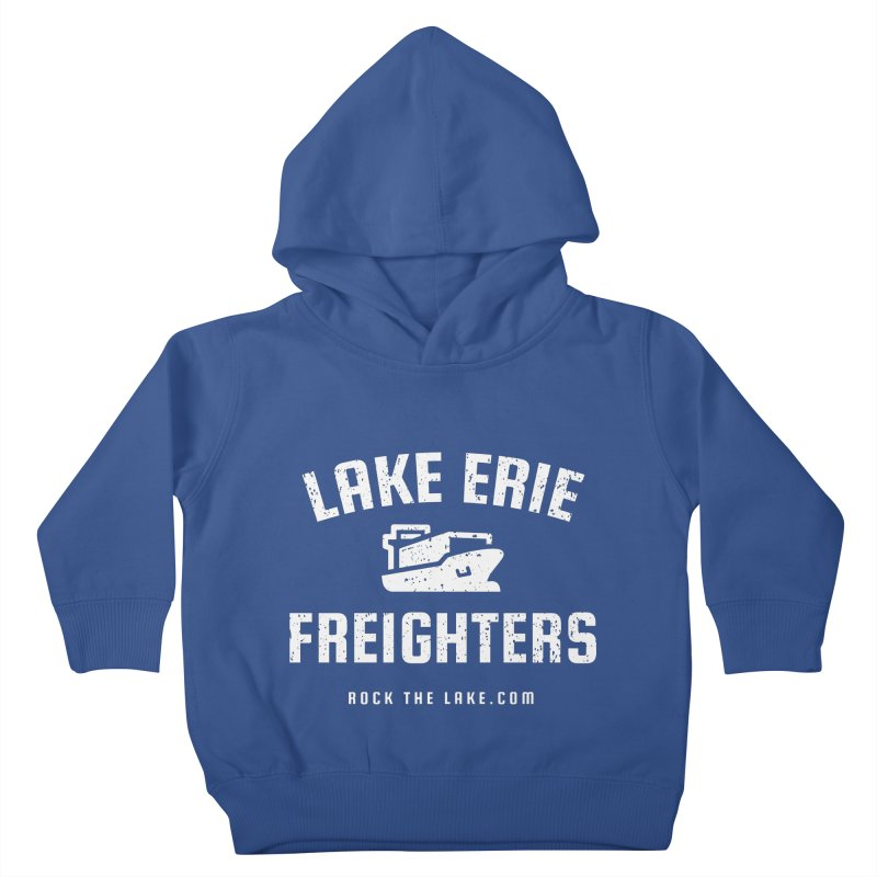 Lake Erie Freighters (alternate) Kids Toddler Pullover Hoody by Rock the Lake's Shop