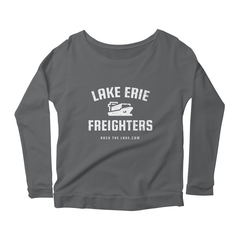 Lake Erie Freighters (alternate) Women's Scoop Neck Longsleeve T-Shirt by Rock the Lake's Shop