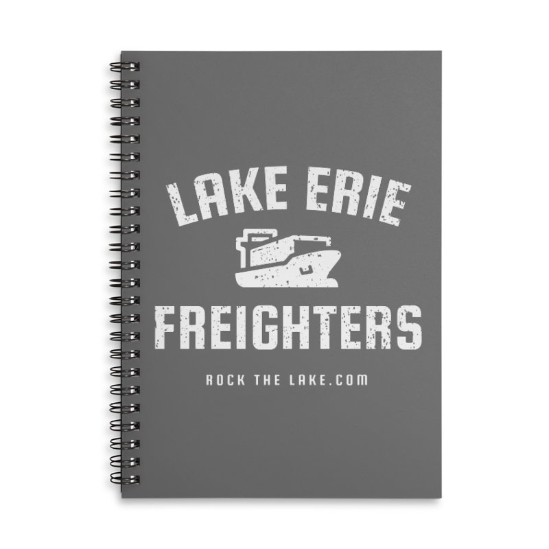Lake Erie Freighters (alternate) Accessories Lined Spiral Notebook by Rock the Lake's Shop