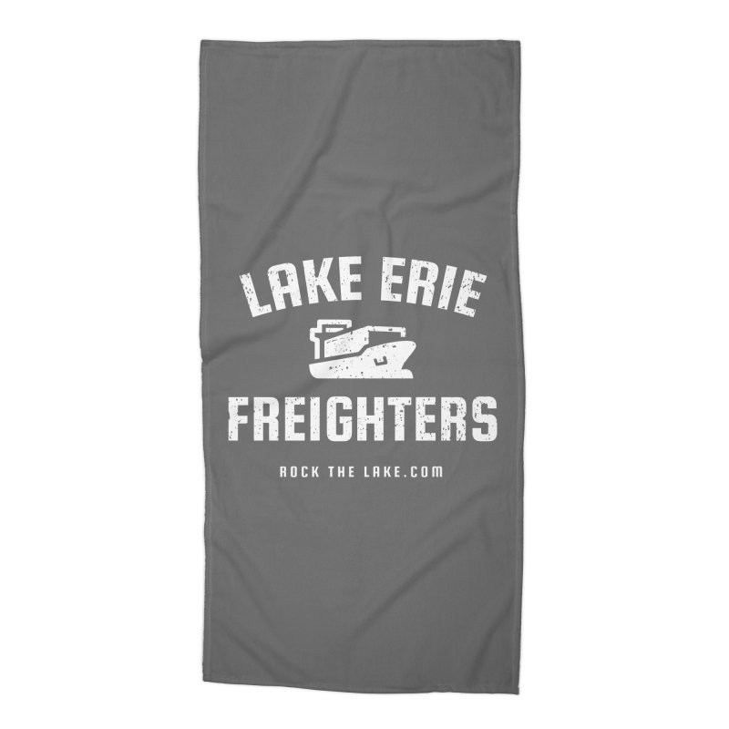 Lake Erie Freighters (alternate) Accessories Beach Towel by Rock the Lake's Shop