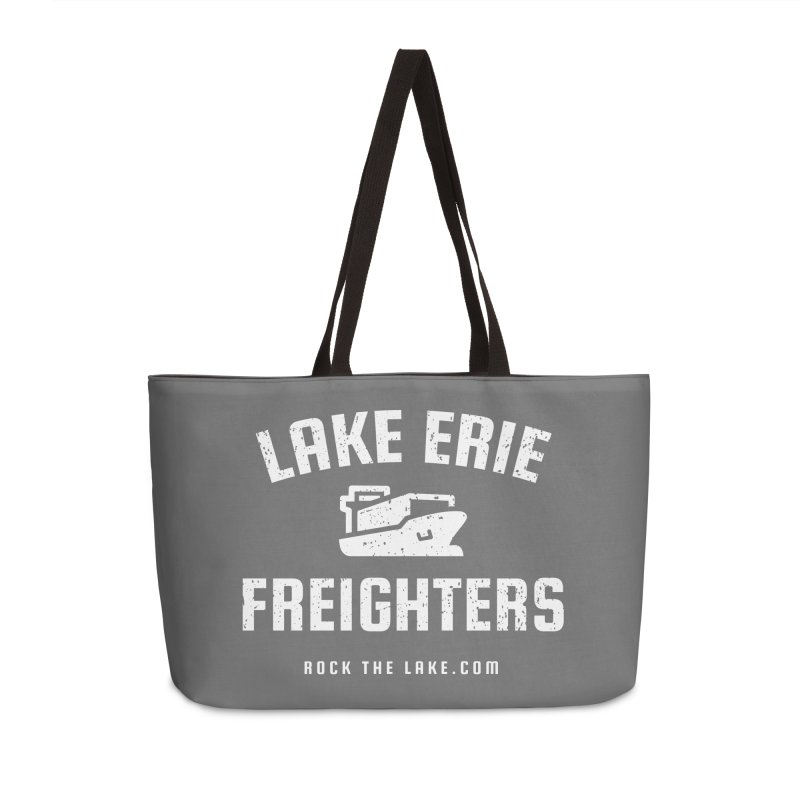 Lake Erie Freighters (alternate) Accessories Weekender Bag Bag by Rock the Lake's Shop
