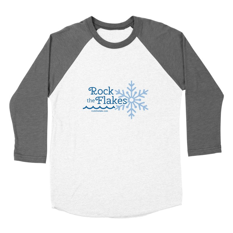 Rock the Flakes Women's Baseball Triblend Longsleeve T-Shirt by Rock the Lake's Shop