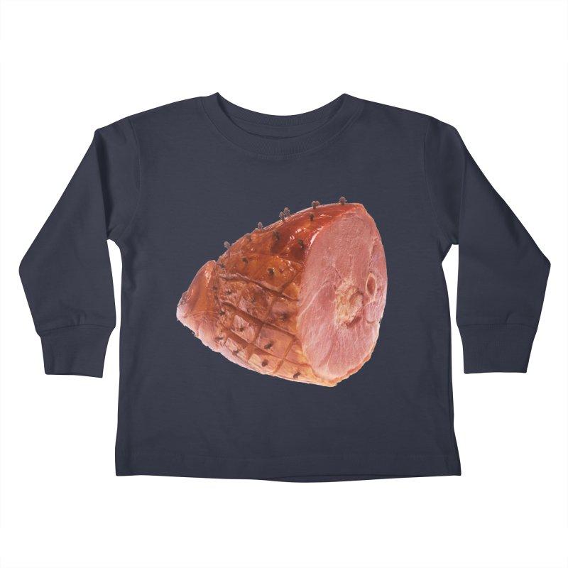 Good Looking Ham Kids Toddler Longsleeve T-Shirt by rockthestereo's Artist Shop