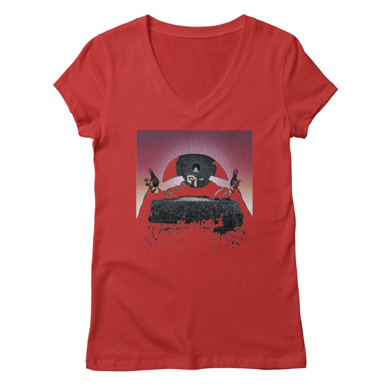Revenge Women's Regular V-Neck by rockthestereo's Artist Shop