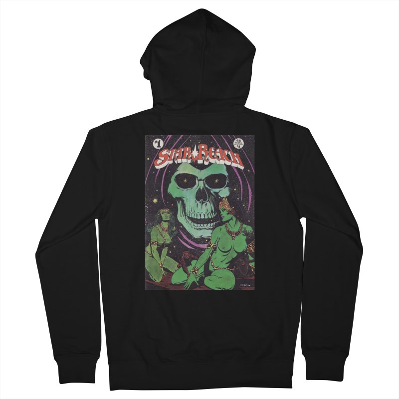reaching for death Men's French Terry Zip-Up Hoody by rockthestereo's Artist Shop