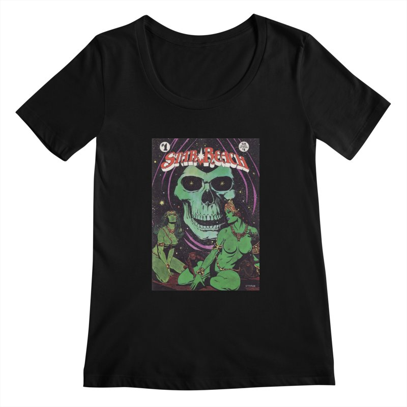 reaching for death Women's Scoopneck by rockthestereo's Artist Shop