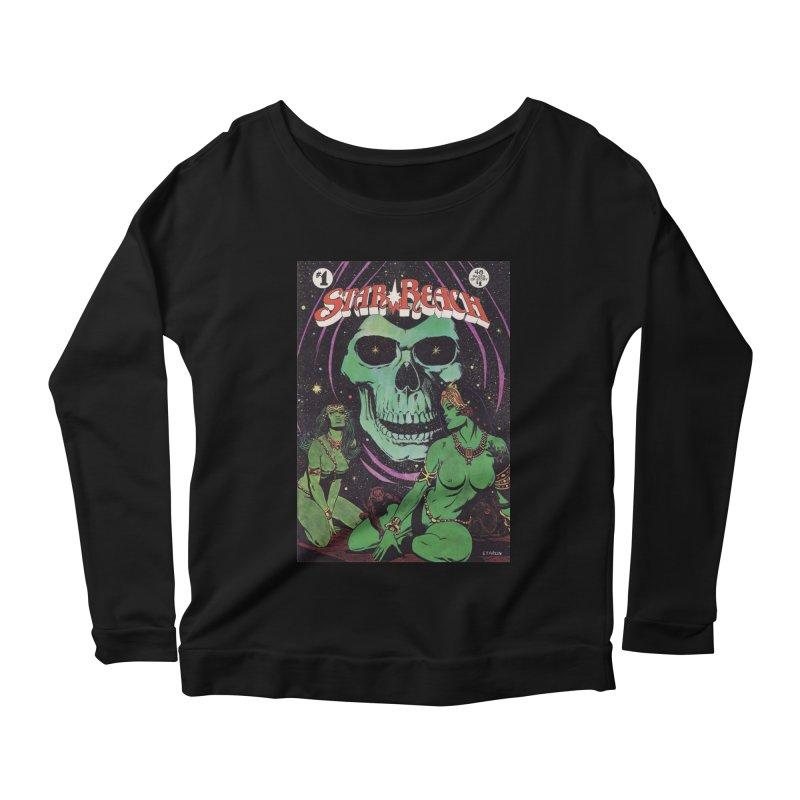 reaching for death Women's Longsleeve Scoopneck  by rockthestereo's Artist Shop