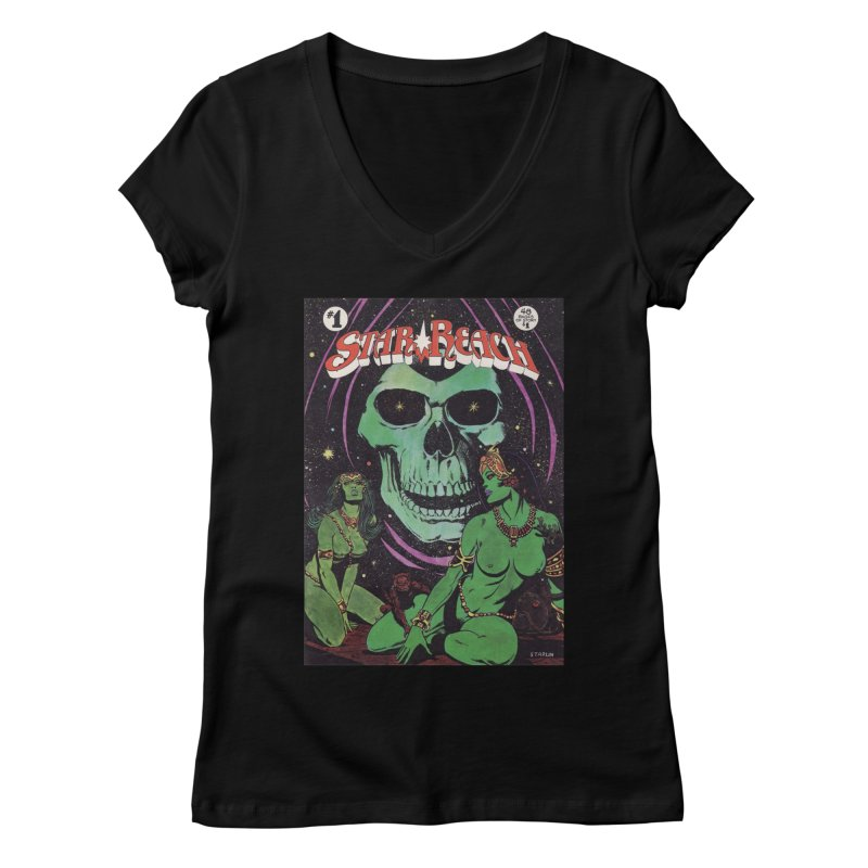 reaching for death Women's Regular V-Neck by rockthestereo's Artist Shop