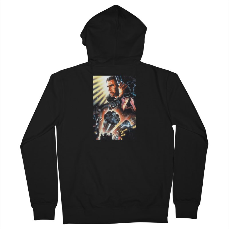 Fun Blade Men's French Terry Zip-Up Hoody by rockthestereo's Artist Shop