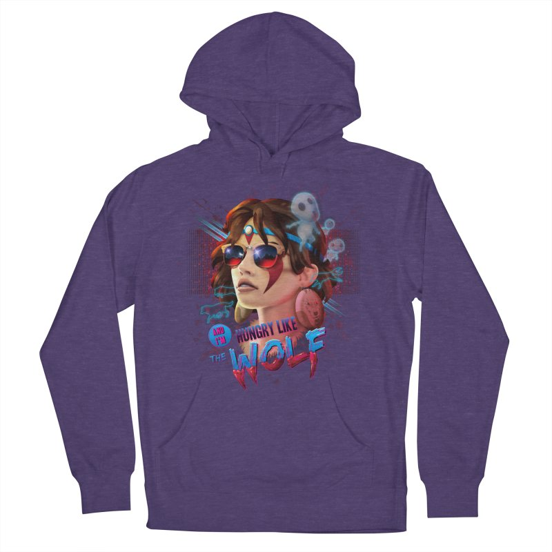 Hungry Like the Wolf Men's Pullover Hoody by Rocky Davies Artist Shop