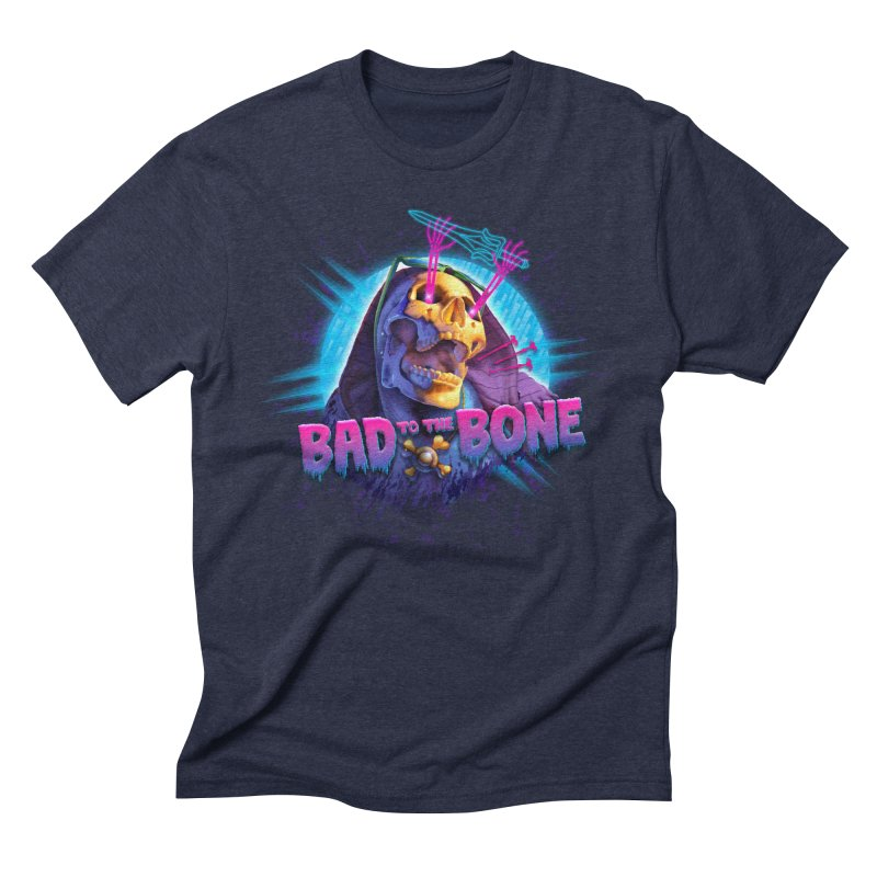 Bad to the Bone Men's Triblend T-shirt by Rocky Davies Artist Shop
