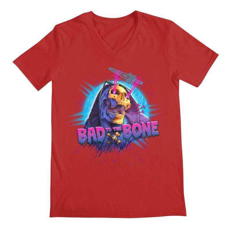 Bad to the Bone Men's V-Neck by Rocky Davies Artist Shop