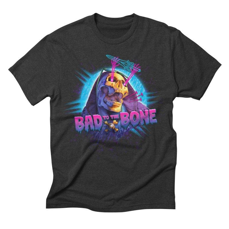 Bad to the Bone Men's Triblend T-shirt by Rocky Davies Artist Shop