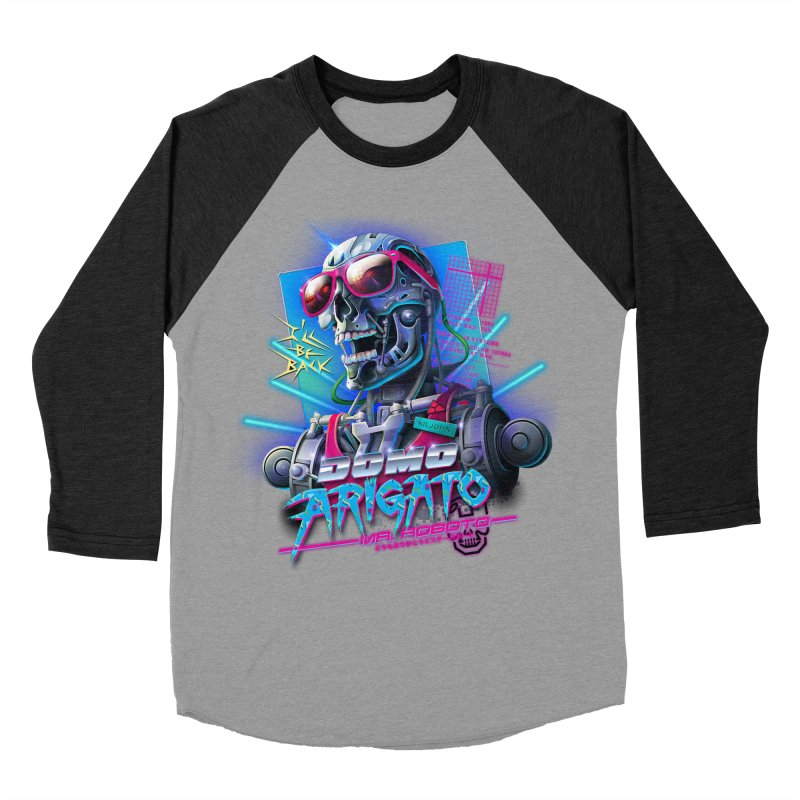 Domo Arigato Men's Baseball Triblend T-Shirt by Rocky Davies Artist Shop