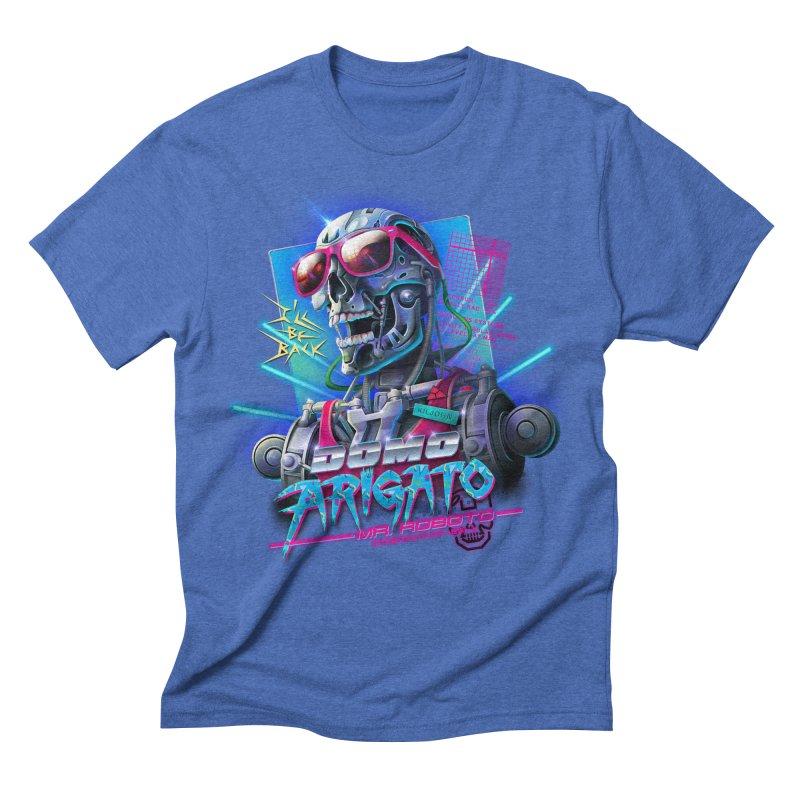 Domo Arigato Men's Triblend T-shirt by Rocky Davies Artist Shop