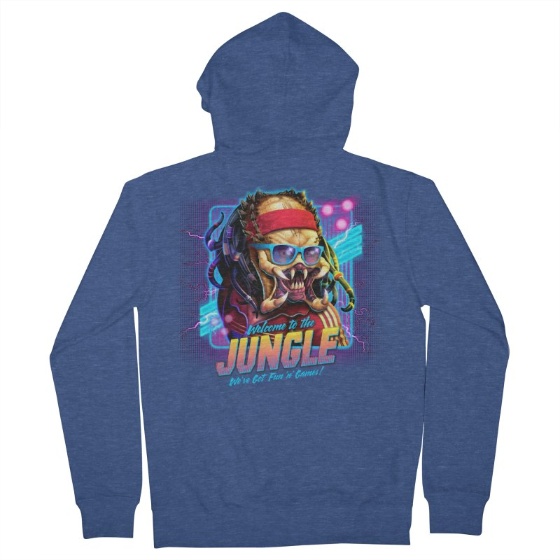 Welcome to the Jungle Men's Zip-Up Hoody by Rocky Davies Artist Shop