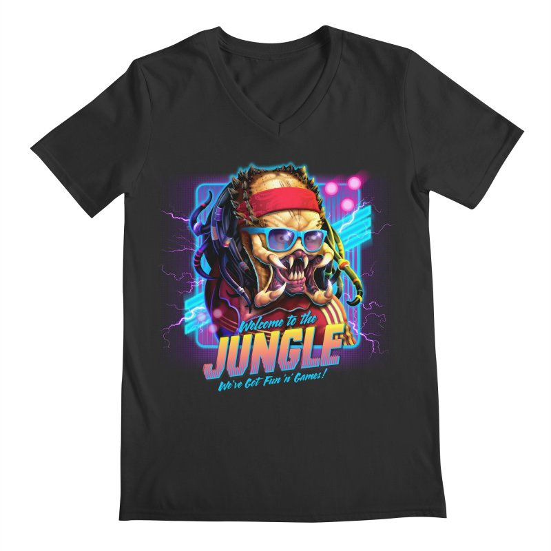 Welcome to the Jungle Men's V-Neck by Rocky Davies Artist Shop