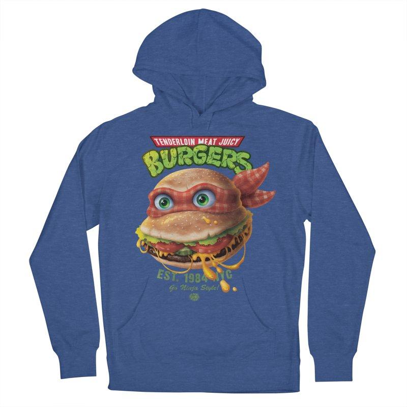 Tenderloin Meat Juicy Burgers Men's Pullover Hoody by Rocky Davies Artist Shop