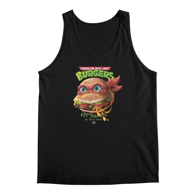 Tenderloin Meat Juicy Burgers Men's Tank by Rocky Davies Artist Shop