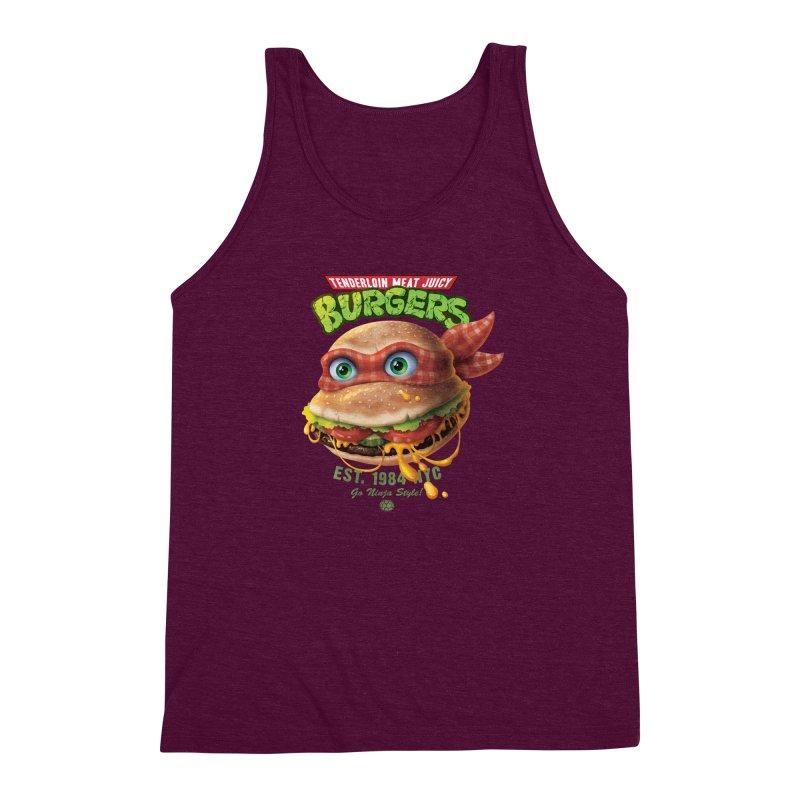 Tenderloin Meat Juicy Burgers Men's Triblend Tank by Rocky Davies Artist Shop