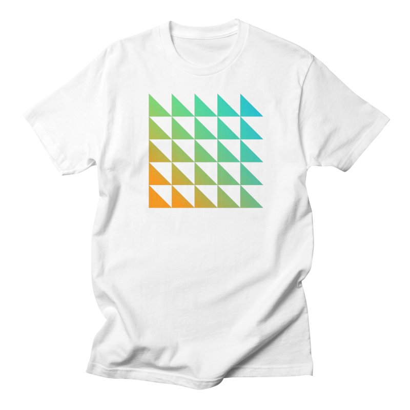 Triangle Pattern 01 in Men's T-shirt White by Rodrigo Tello