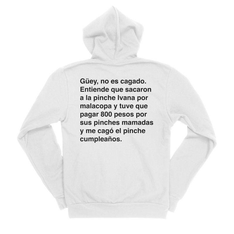 Camila e Ivana Men's Sponge Fleece Zip-Up Hoody by Rodrigo Tello