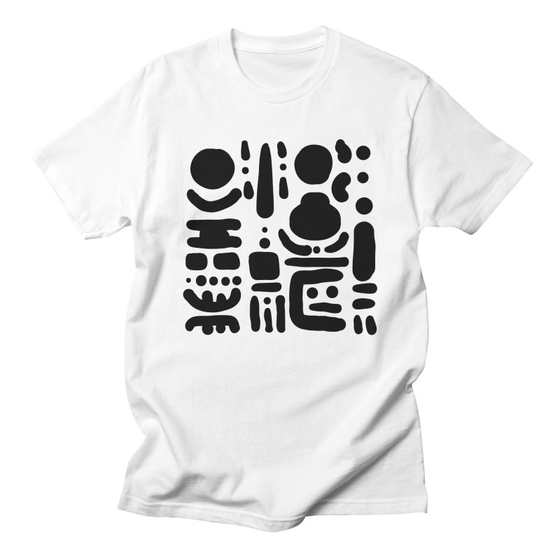 Creatures talking among trees in Men's Regular T-Shirt White by Rodrigo Tello