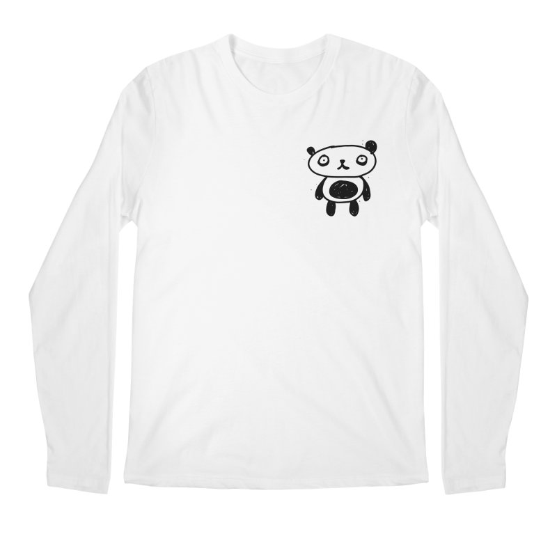 Small lonely panda Men's Regular Longsleeve T-Shirt by Rodrigo Tello