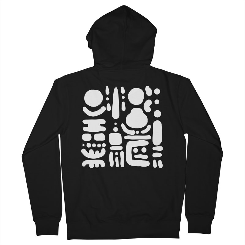 Creatures talking through the night Women's French Terry Zip-Up Hoody by Rodrigo Tello