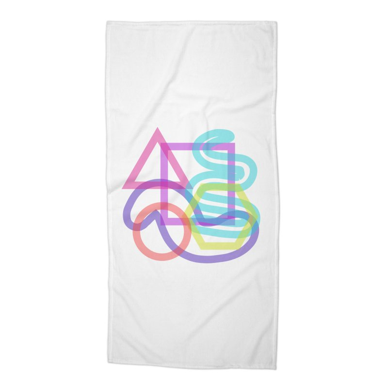 Triangle Cuadrangular Squiggles Circle Accessories Beach Towel by Rodrigo Tello