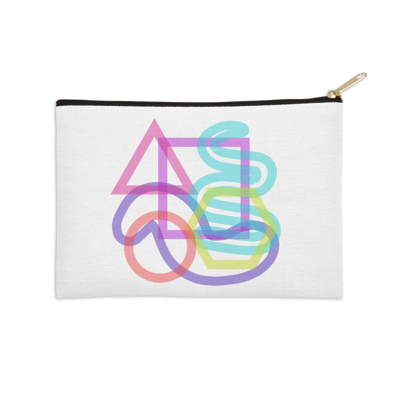 Triangle Cuadrangular Squiggles Circle Accessories Zip Pouch by Rodrigo Tello