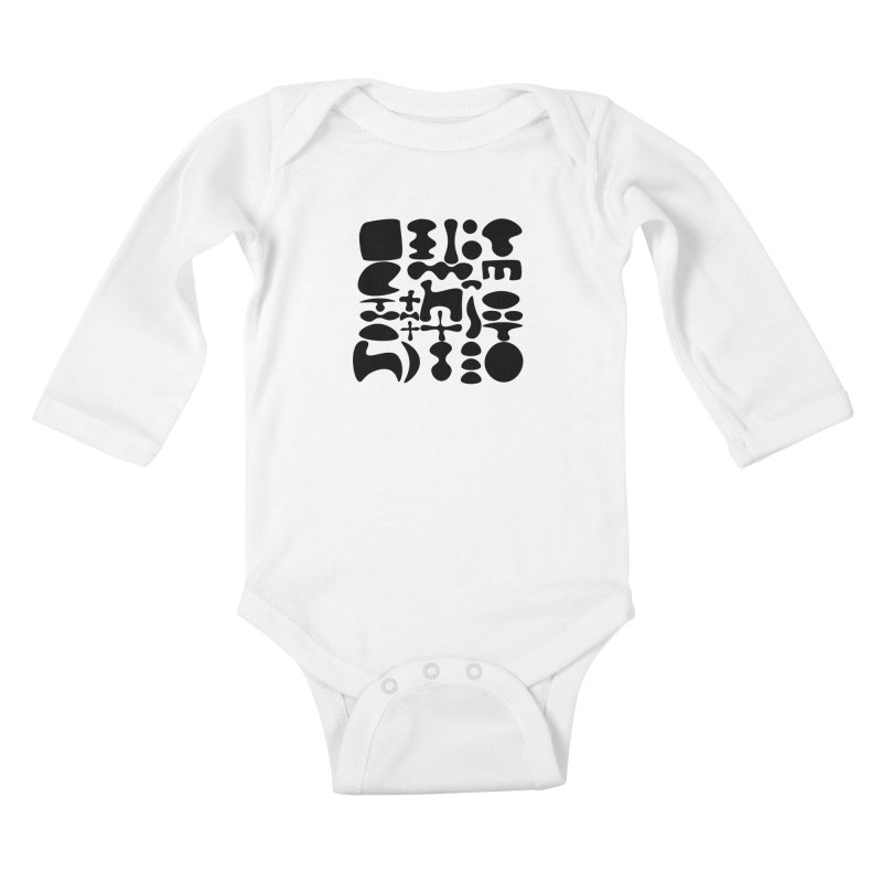 Birds & Moon & Sun & Miró Kids Baby Longsleeve Bodysuit by Rodrigo Tello